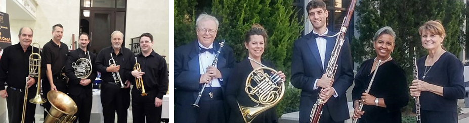 The Brass Quintet and the Woodwind Quintet.