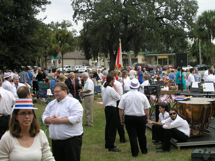 Participants and guests at the park