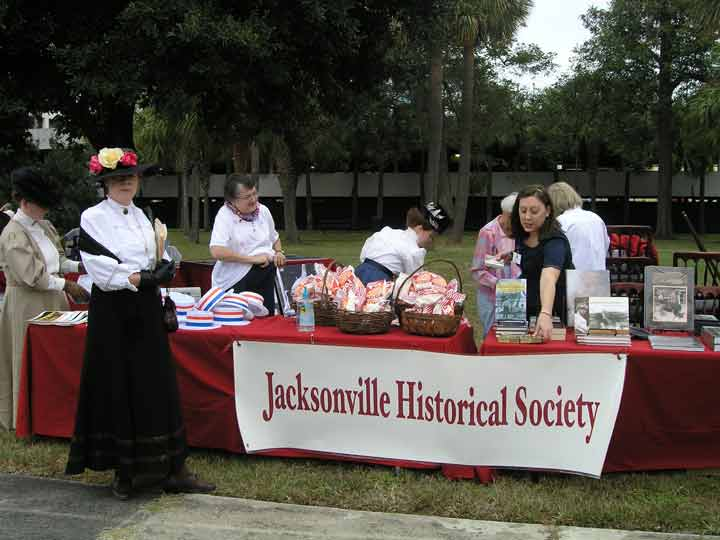 Display table of the Jacksonville Historical Society at the park.